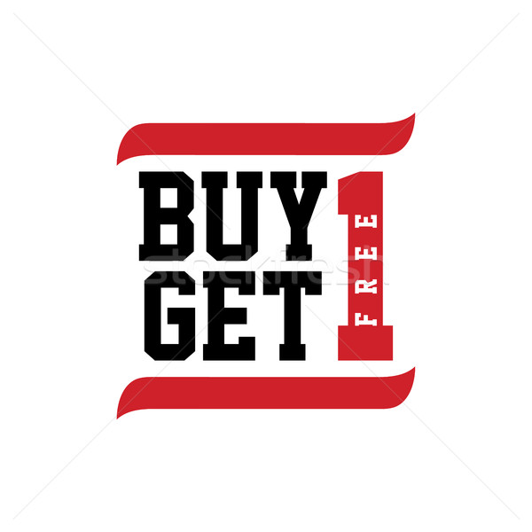 black red text buy one get free Stock photo © vector1st