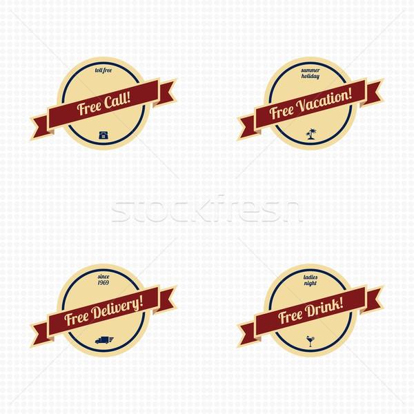 premium label vintage quality badge theme Stock photo © vector1st