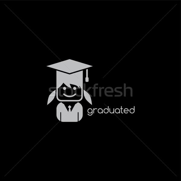 Graduação seis menina vetor arte Foto stock © vector1st