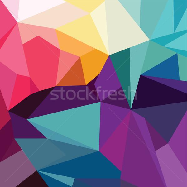 Résumé coloré triangle géométrique texture bleu Photo stock © vector1st