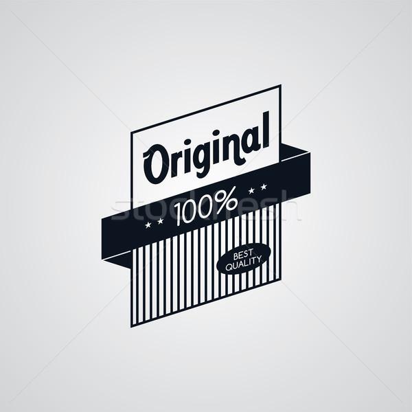Original prima etiqueta retro placa emblema Foto stock © vector1st