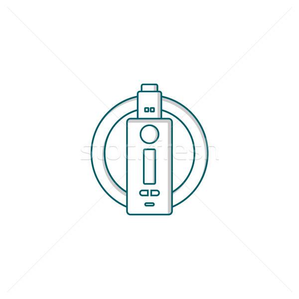 electric cigarette personal vaporizer e-cigarette Stock photo © vector1st
