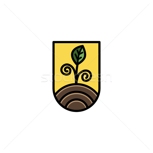 eco friendly green earth day icon sign symbol Stock photo © vector1st