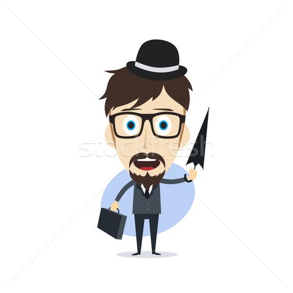 Geschäftsmann Karikatur Zeichentrickfigur Vektor Kunst Illustration Stock foto © vector1st