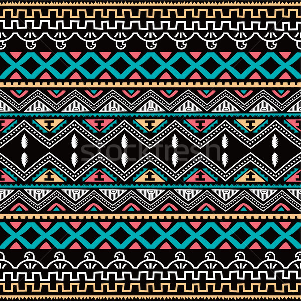 Colore nativo etnica vettore arte Foto d'archivio © vector1st