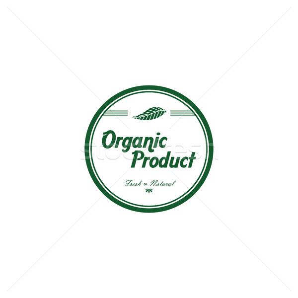 Frischen umweltfreundlich grünen Label Vektor Kunst Stock foto © vector1st