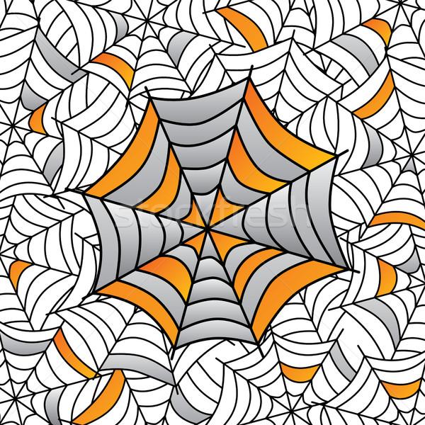 Színes pókháló művészet vektor illusztráció terv Stock fotó © vector1st