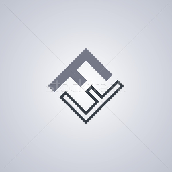 Stock photo: ff initial letter logotype company logo theme