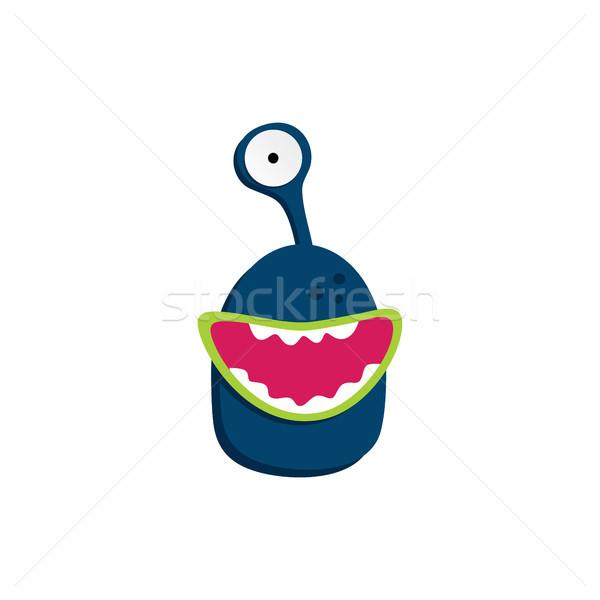 Cute aanbiddelijk lelijk scary grappig mascotte Stockfoto © vector1st