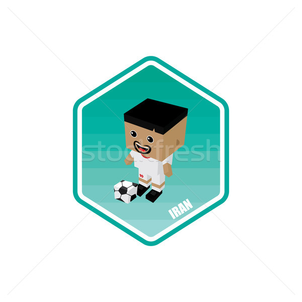 Fútbol Irán vector arte Cartoon Foto stock © vector1st