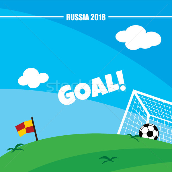 russia soccer tournament 2018 Stock photo © vector1st