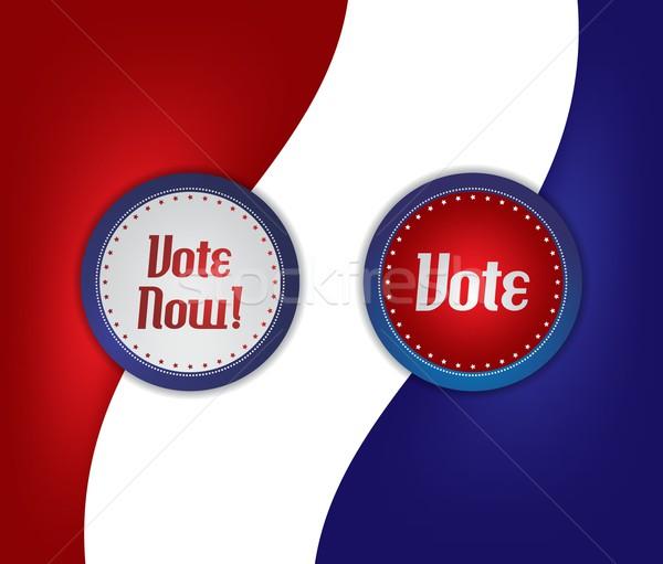 Vote élection étiquette vecteur graphique art Photo stock © vector1st