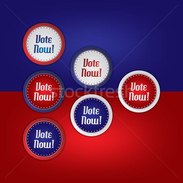 Głosowania wyborów wektora graficzne sztuki projektu Zdjęcia stock © vector1st