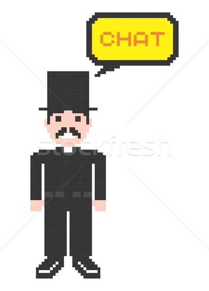 Pixel homme art vecteur graphique design Photo stock © vector1st