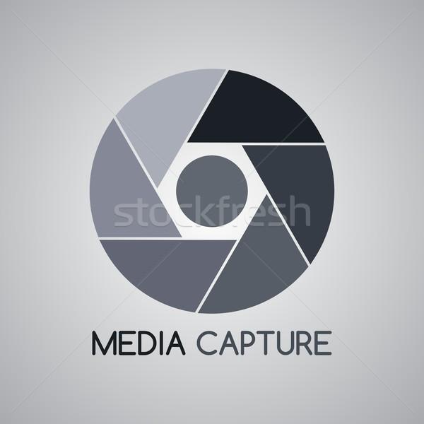 Kamera fotózás vektor grafikus művészet terv Stock fotó © vector1st