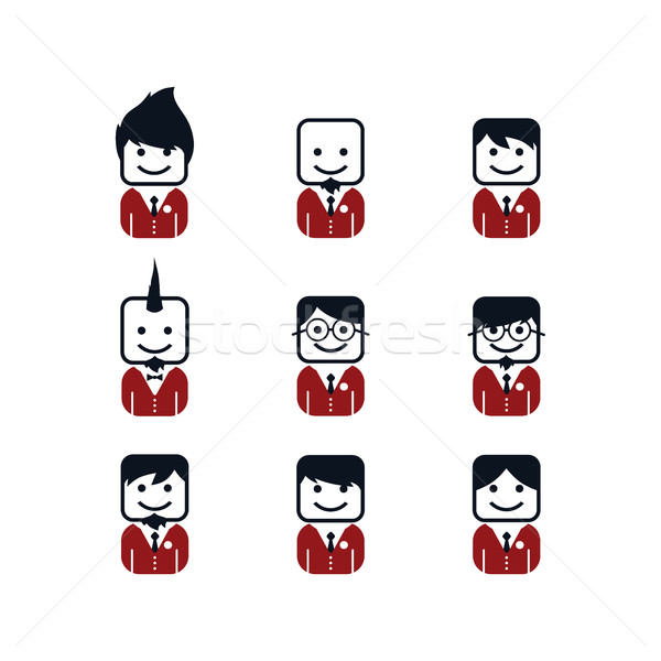 man avatar with formal suit Stock photo © vector1st