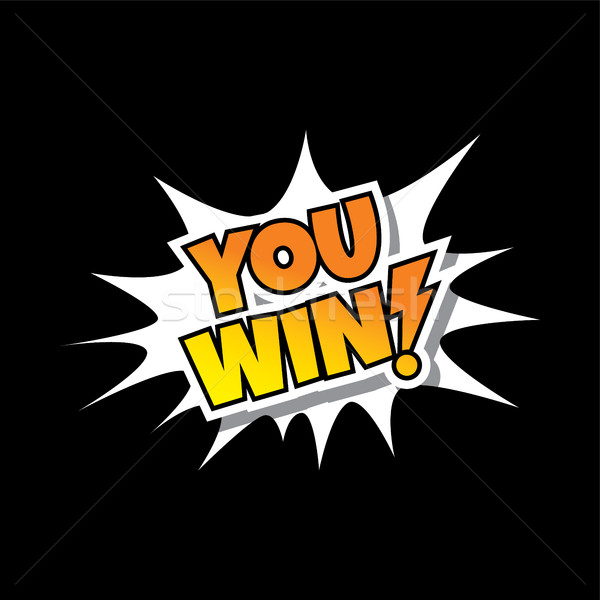You Win - Comic Speech Bubble Cartoon Game Assets Stock photo © vector1st
