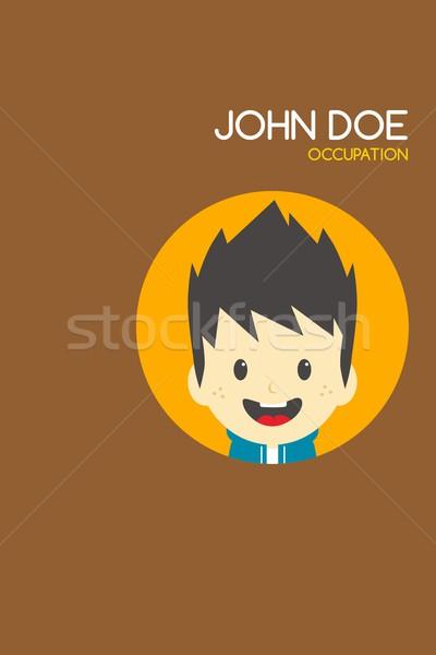 Hombre Cartoon tarjeta de visita cuerpo ejecutivo adolescente Foto stock © vector1st