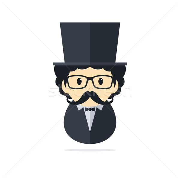 Smoking man vector kunst grafische illustratie Stockfoto © vector1st
