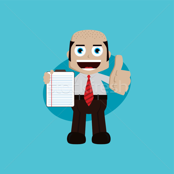 Geschäftsmann Manager Arbeit halten Bericht Buch Stock foto © vector1st