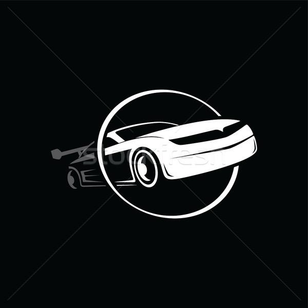 Araba prim logo vektör sanat Stok fotoğraf © vector1st
