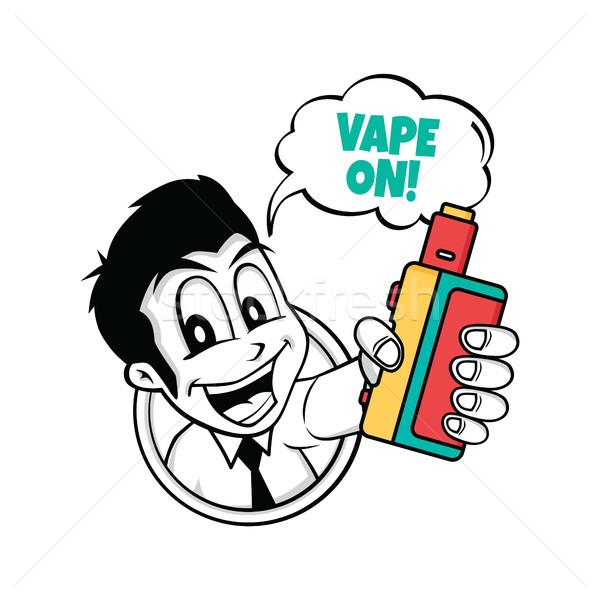 Elektromos cigaretta pára élet vektor mosoly Stock fotó © vector1st