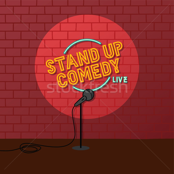 stand up comedy open mic Stock photo © vector1st