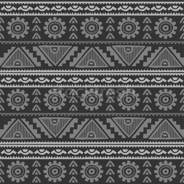 бесшовный родной шаблон вектора искусства иллюстрация Сток-фото © vector1st
