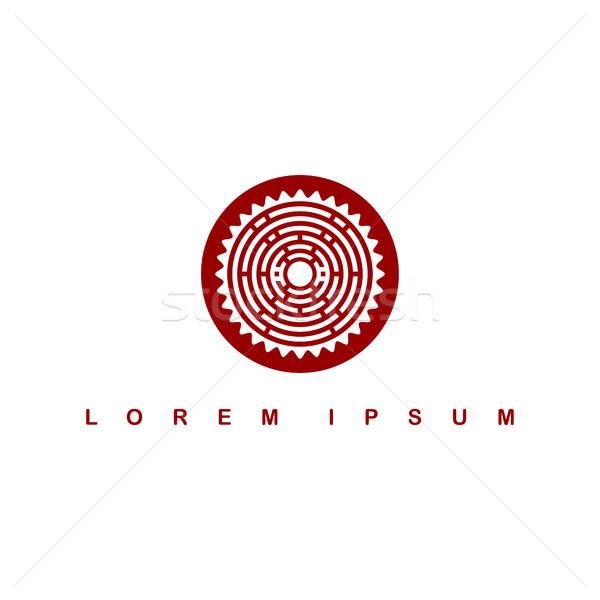 Kółko tubylec plemię podpisania symbol logo Zdjęcia stock © vector1st