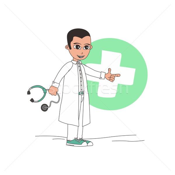 医師 ベクトル グラフィック 芸術 実例 ストックフォト © vector1st