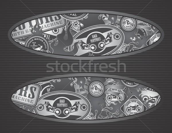 мотоцикл искусства вектора графических дизайна Сток-фото © vector1st