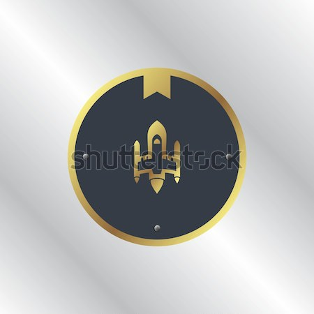 Espacio cohete vector arte ilustración signo Foto stock © vector1st