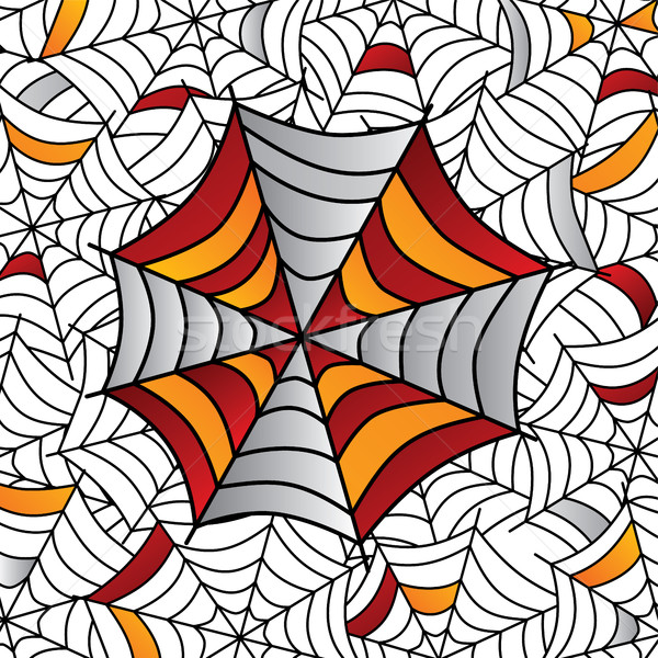 Kleurrijk spinnenweb kunst vector illustratie ontwerp Stockfoto © vector1st