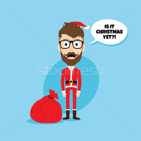 santa claus christmas skinny dad Stock photo © vector1st