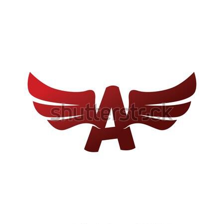 翼 飛行機 ベクトル 芸術 実例 空 ストックフォト © vector1st