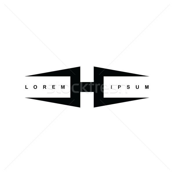 alphabet letter h logo logotype template Stock photo © vector1st