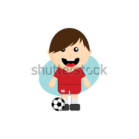 Grupo equipe torneio de futebol vetor arte ilustração Foto stock © vector1st