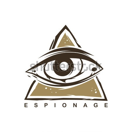 all seeing eye theme logo template Stock photo © vector1st