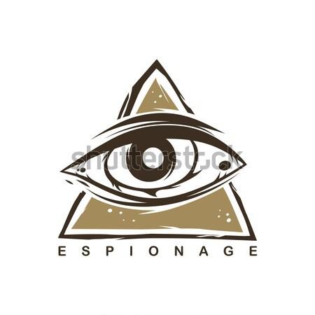 Сток-фото: глаза · логотип · шаблон · вектора · искусства