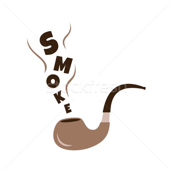 Tabac pipe fumée vecteur art illustration Photo stock © vector1st