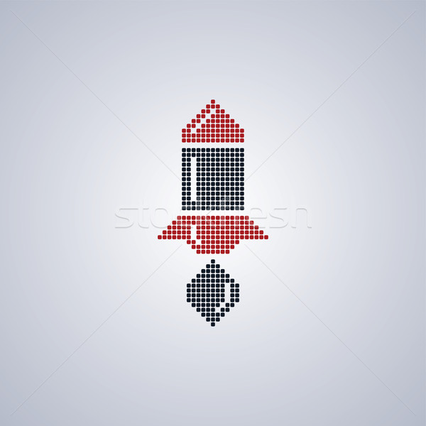 pixel rocket art Stock photo © vector1st