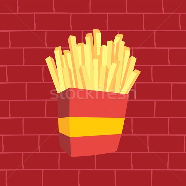 Frites françaises vecteur art illustration design pain Photo stock © vector1st