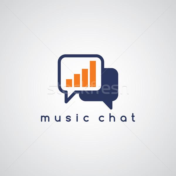 Müzik ekolayzer sohbet vektör sanat örnek Stok fotoğraf © vector1st