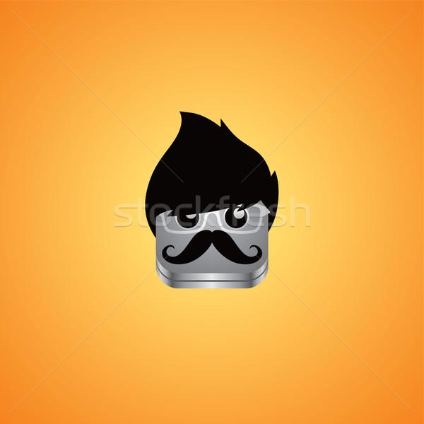 Geek ragazzo avatar ritratto vettore arte Foto d'archivio © vector1st