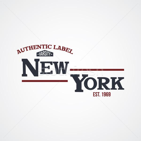 Stock photo: new york united states of america varsity
