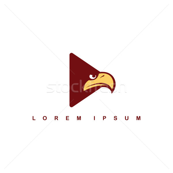 Águia falcão pássaro logotipo modelo jogar Foto stock © vector1st