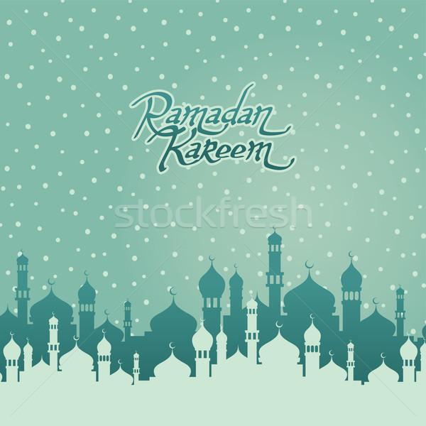 Glücklich islam Kunst schriftlich Stock foto © vector1st