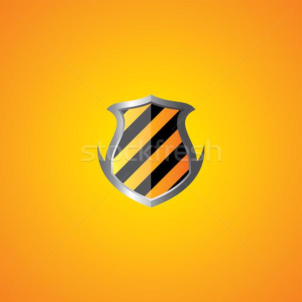 Protección escudo vector arte gráfico ilustración Foto stock © vector1st