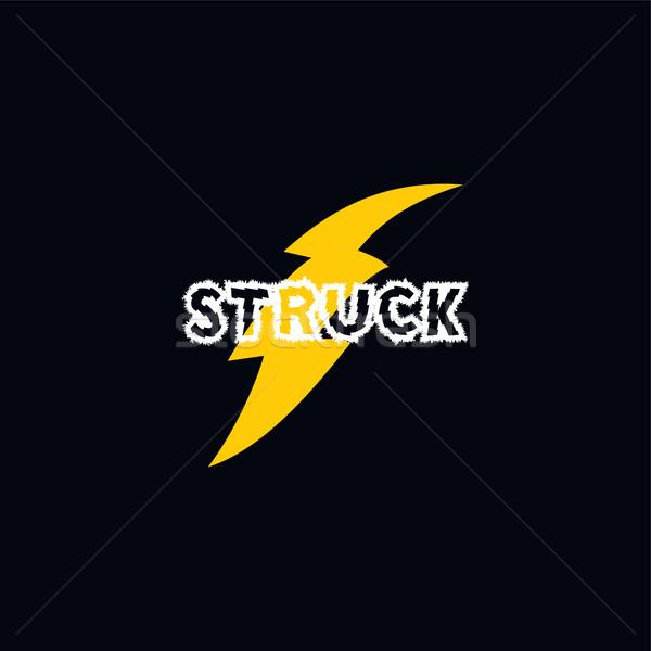 Flaş gök gürültüsü logo vektör sanat Stok fotoğraf © vector1st