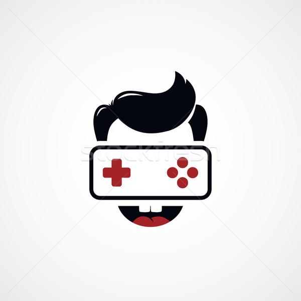 game freak video game joystick logotype Stock photo © vector1st